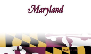 Maryland Blank State License Plate Wholesale Magnet M-10460