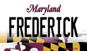 Frederick Maryland State License Plate Wholesale Magnet