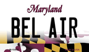 Bel Air Maryland State License Plate Wholesale Magnet