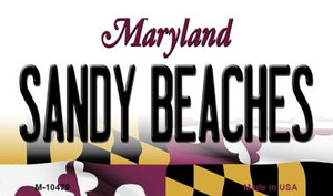 Sandy Beaches Maryland State License Plate Wholesale Magnet