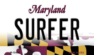 Surfer Maryland State License Plate Wholesale Magnet