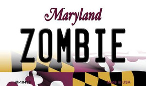 Zombie Maryland State License Plate Wholesale Magnet