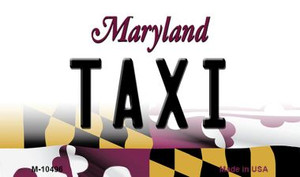Taxi Maryland State License Plate Wholesale Magnet