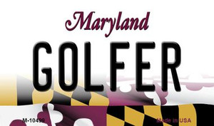 Golfer Maryland State License Plate Wholesale Magnet