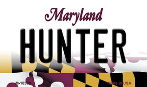 Hunter Maryland State License Plate Wholesale Magnet