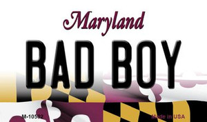 Bad Boy Maryland State License Plate Wholesale Magnet