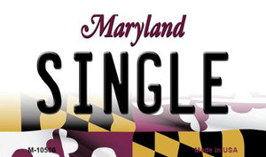 Single Maryland State License Plate Wholesale Magnet