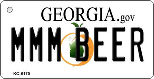 MMM Beer Georgia State License Plate Novelty Wholesale Key Chain KC-6175