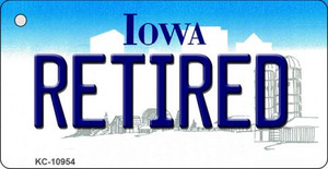 Retired Iowa State License Plate Novelty Wholesale Key Chain KC-10954