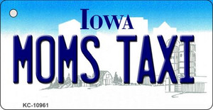 Moms Taxi Iowa State License Plate Novelty Wholesale Key Chain KC-10961