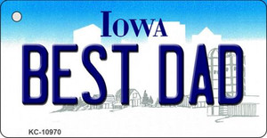 Best Dad Iowa State License Plate Novelty Wholesale Key Chain KC-10970