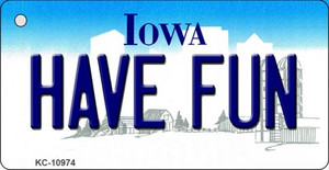 Have Fun Iowa State License Plate Novelty Wholesale Key Chain KC-10974
