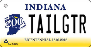 Tailgtr Indiana State License Plate Novelty Wholesale Key Chain KC-6366