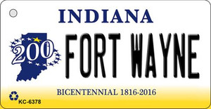 Fort Wayne Indiana State License Plate Novelty Wholesale Key Chain KC-6378