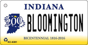 Bloomington Indiana State License Plate Novelty Wholesale Key Chain KC-6381