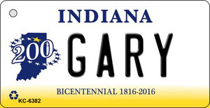 Gary Indiana State License Plate Novelty Wholesale Key Chain KC-6382