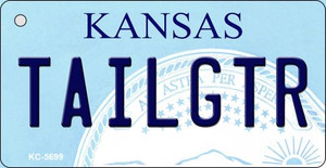 Tailgtr Kansas State License Plate Novelty Wholesale Key Chain KC-6599