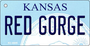 Red Gorge Kansas State License Plate Novelty Wholesale Key Chain KC-6609
