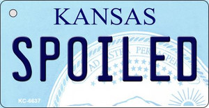 Spoiled Kansas State License Plate Novelty Wholesale Key Chain KC-6637