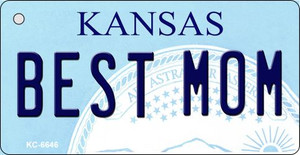 Best Mom Kansas State License Plate Novelty Wholesale Key Chain KC-6646