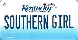 Southern Girl Kentucky State License Plate Novelty Wholesale Key Chain KC-6767