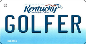 Golfer Kentucky State License Plate Novelty Wholesale Key Chain KC-6774