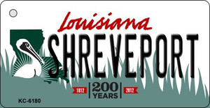 Shreveport Louisiana State License Plate Novelty Wholesale Key Chain KC-6180