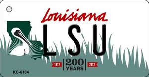 LSU Louisiana State License Plate Novelty Wholesale Key Chain KC-6184