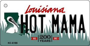 Hot Mama Louisiana State License Plate Novelty Wholesale Key Chain KC-6188