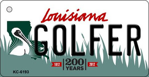 Golfer Louisiana State License Plate Novelty Wholesale Key Chain KC-6193