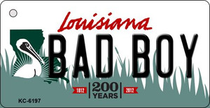 Bad Boy Louisiana State License Plate Novelty Wholesale Key Chain KC-6197