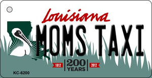 Moms Taxi Louisiana State License Plate Novelty Wholesale Key Chain KC-6200