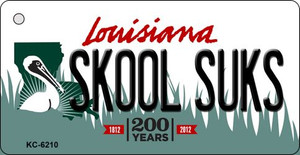 Skool Suks Louisiana State License Plate Novelty Wholesale Key Chain KC-6210