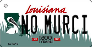 No Murci Louisiana State License Plate Novelty Wholesale Key Chain KC-6216