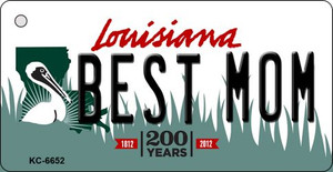 Best Mom Louisiana State License Plate Novelty Wholesale Key Chain KC-6652