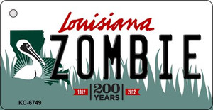 Zombie Louisiana State License Plate Novelty Wholesale Key Chain KC-6749