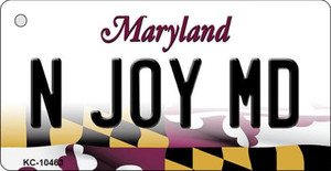 N Joy MD State License Plate Wholesale Key Chain KC-10463