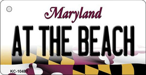 At The Beach Maryland State License Plate Wholesale Key Chain KC-10481