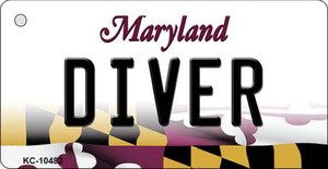 Diver Maryland State License Plate Wholesale Key Chain KC-10482