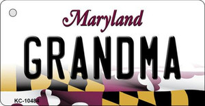 Grandma Maryland State License Plate Wholesale Key Chain KC-10484