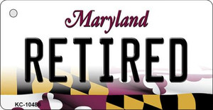 Retired Maryland State License Plate Wholesale Key Chain KC-10486