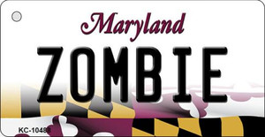 Zombie Maryland State License Plate Wholesale Key Chain KC-10488