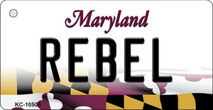 Rebel Maryland State License Plate Wholesale Key Chain KC-10505