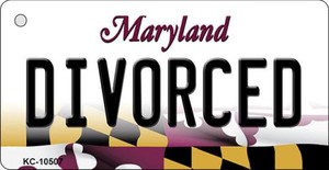Divorced Maryland State License Plate Wholesale Key Chain KC-10507