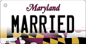 Married Maryland State License Plate Wholesale Key Chain KC-10508