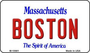 Boston Massachusetts State License Plate Wholesale Magnet M-10981