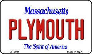 Plymouth Massachusetts State License Plate Wholesale Magnet M-10984