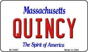 Quincy Massachusetts State License Plate Wholesale Magnet M-10987