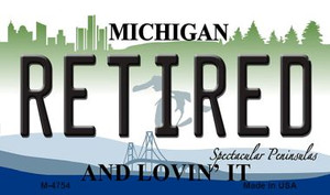 Retired Michigan State License Plate Novelty Wholesale Magnet M-4754