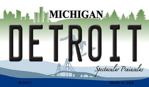 Detroit Michigan State License Plate Novelty Wholesale Magnet M-6107